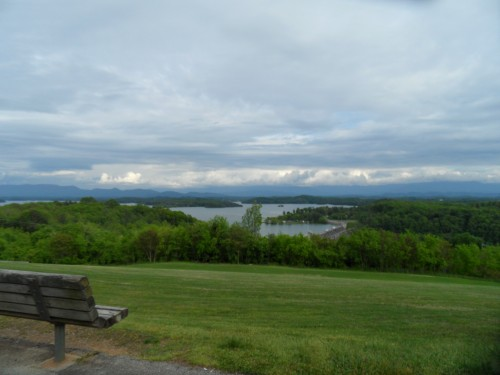 View across the lake from the dam's overlook