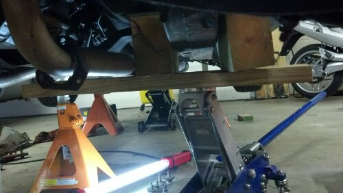 Replacing the front subframe bushings.