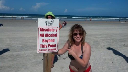 sign advising no alcohol beyond this point