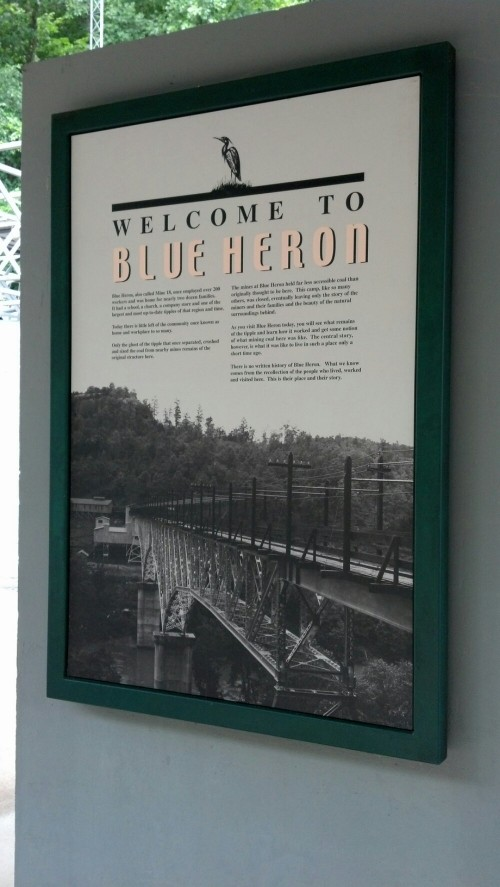 Blue Heron history placard