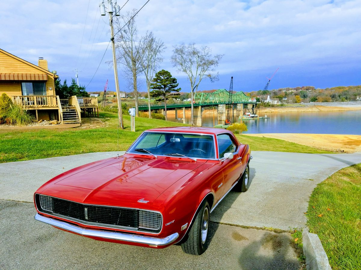 Camaro near the bridge in Dandridge.